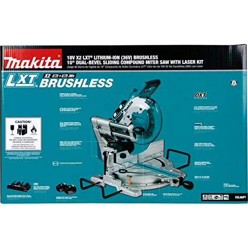 Makita XSL06PT 18V x2 LXT Lithium-Ion (36V) Brushless Cordless 10