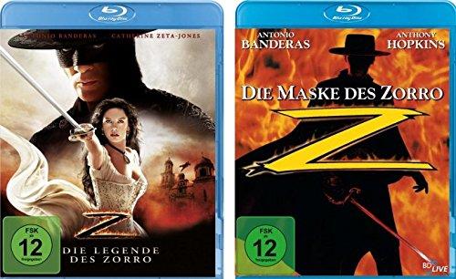 Die Legende des Zorro & Die Maske des Zorro mit Antonio Banderas und Catherine Zeta-Jones im Set - Deutsche Originalware [2 Blu