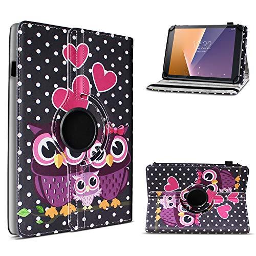 UC-Express Schutzhülle kompatibel für Vodafone Smart Tab N8 Tablet Hülle Tasche Hülle Schutz Cover 360° Drehbar, Farbe:Motiv 5