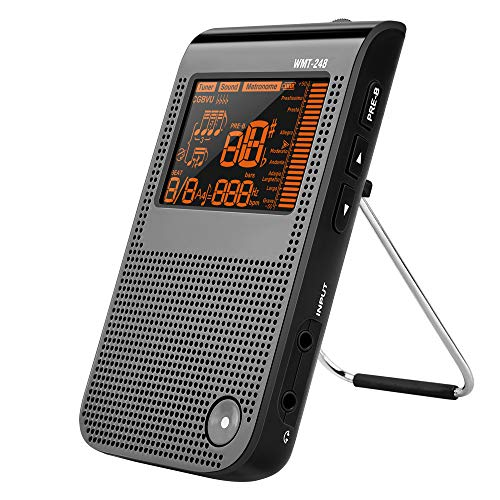 LEKATO Metronome Tuner Tone Generator 3 in 1 Function Digital Metronome Mini Portable USB Rechargeable Multifunctional for Musician Guitar, Piano, Trumpet, Pipes, All Instruments