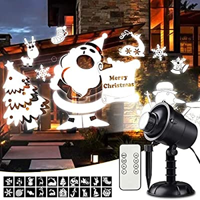 Christmas Laser Lights, Waterproof Projector with RF Remote Control