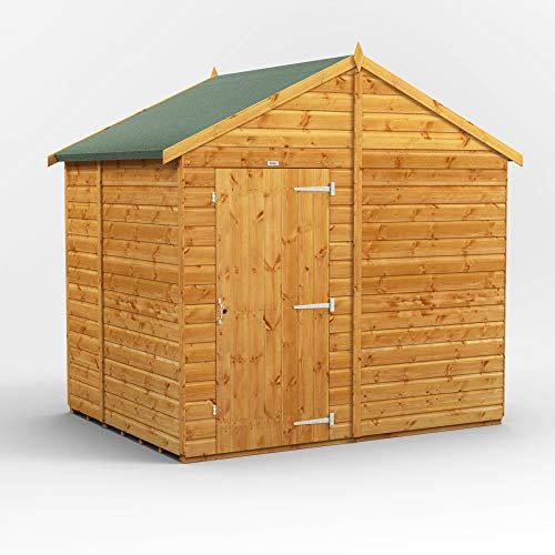 POWER | 6x8 Windowless Apex Wooden Garden Shed | Size 6 x 8 | Super Fast Delivery or Pick your own day