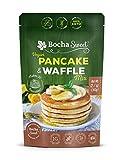 BochaSweet Vegan Pancake & Waffle Mix - Plant Based, Gluten Free, Sugar Free, 100% Keto, Diabetic Friendly - Makes 30 Pancakes - Sweetened with BochaSweet (1g Net Carbs) - Protein Breakfast, 12.7oz