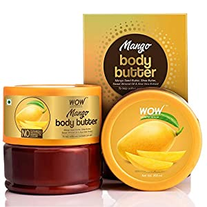 WOW Skin Science Mango Body Butter for Softening and Revitalizing Dull Skin - For All Skin Types - No Parabens, Silicones, Mineral Oil & Color - 200mL