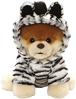 "GUND World's Cutest Dog Boo Zebra Outfit Plush Stuffed Animal 9"""
