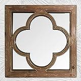 Espejo de pared de madera envejecida, espejo decorativo para decoración de pared, espejo de granja para dormitorio, baño, sala de estar