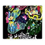 DISNEY COLLECTION Mouse Pad Rectangle Stitched Edges Alice in Wonderland Durable