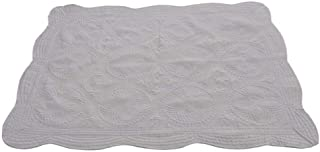 CFP Soft Little Grey Baby Quilt - Heirloom Cotton Embossed Nice and Sturdy Stitching Baby Little Crib Blanket, 36