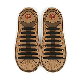 INMAKER No Tie Shoe Laces for Adults and Kids Elastic Shoelaces for Sneakers Rubber Silicone Tieless Laces