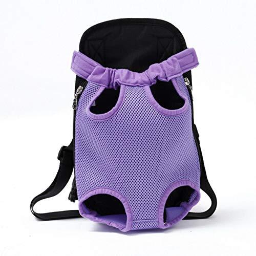 IUOU Mochila portadora de Perros de Verano Cat Puppy Frente de Mascota/Hombro Trasero Carry Sling Bag Bolsa Fashion Puppy CatParriers 4 Tamaño S-XL