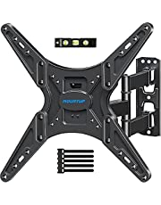 MOUNTUPTV Wall Mount, TV Mounts Swivel and Tilt Full Motion for Most26-55 Inch Flat Screen Curved TVs with Articulating Arm, Wall Mount TV Bracket up toVESA400x400mm& 88lbs, Fit Single Stud MU0014
