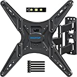MOUNTUP TV Wall Mount, TV Mounts Swivel and Tilt Full Motion for Most 26-55 Inch Flat Screen Curved TVs with Articulating Arm, Wall Mount TV Bracket up to VESA 400x400mm& 88lbs, Fit Single Stud MU0014