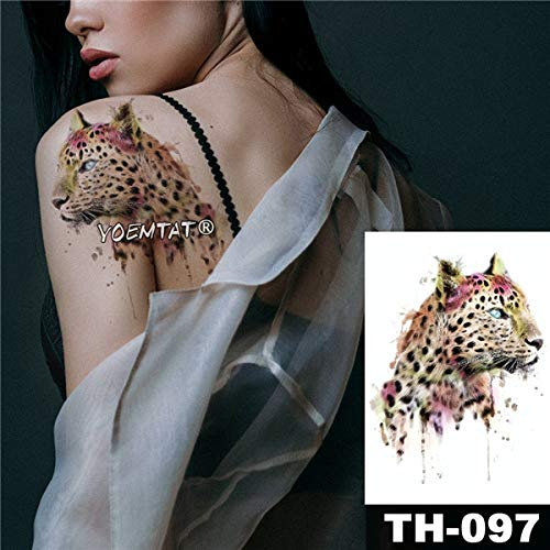tzxdbh 5 Stks-Waterdichte Tattoo Sticker Schedel Rose Patroon Water Transfer Inkt Jet Wild Man Lichaam Kunst Tatoo-In Tattoos Van 13 5pcs-13