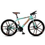 Xiaoyue 24-Zoll-Mountainbikes, Doppelscheibenbremse Hardtail Mountainbike, Herren Damen High-Carbon Stahl All Terrain Alpine Fahrrad, 21 Geschwindigkeit, Schwarz 10 Spoke lalay