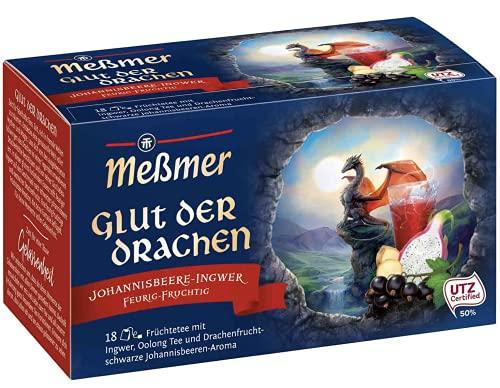 Meßmer Glut der Drachen   Johannisbeere-Ingwer   18 Teebeutel   Vegan   Glutenfrei   Laktosefrei