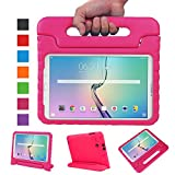 NEWSTYLE Tab E 9.6 Case - Shockproof Light Weight Protection Handle Stand Kids Case for Samsung Galaxy Tab E/Nook 9.6 Inch 2015 Tablet WiFi and Verizon 4G LTE Version (Magenta) Not Fit Other Tablet