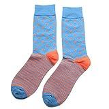 xiahe 1 paire de chaussettes à rayures pour homme en coton respirant antidérapant Automne-hiver pour homme adulte pour le cyclisme, taille unique
