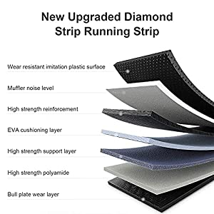 """Fisup Folding Treadmill with 18"""" Wide Belt Electronic Running Machine with LCD Display and Bluetooth Speaker for Home Use No Installation Required"""