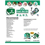 2 in 1 Large First Aid Kit for Home, Car, Camping, Office, Boat, and Traveling 98