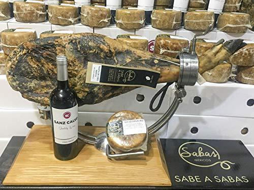 Paleta de cebo ibérica de 5 kg aprx. SIERRA DE HUELVA , 1queso de oveja curado de 1/2 kg. y de regalo una botella de vino tinto Reserva.