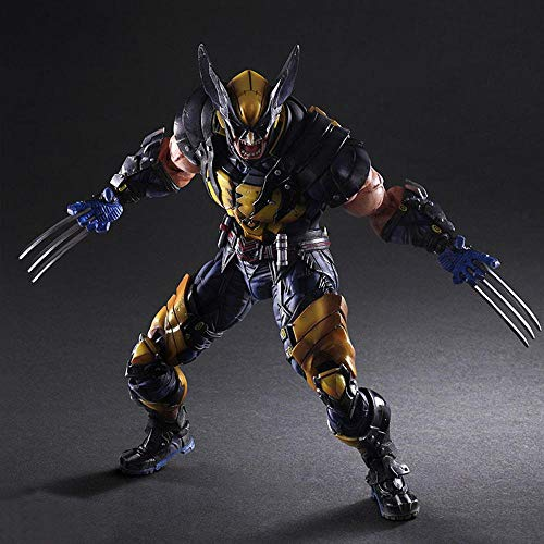 Action Figure X-Men PA Change Wolverine James Howlett Decoración del Modelo De Personaje Animado 28CM