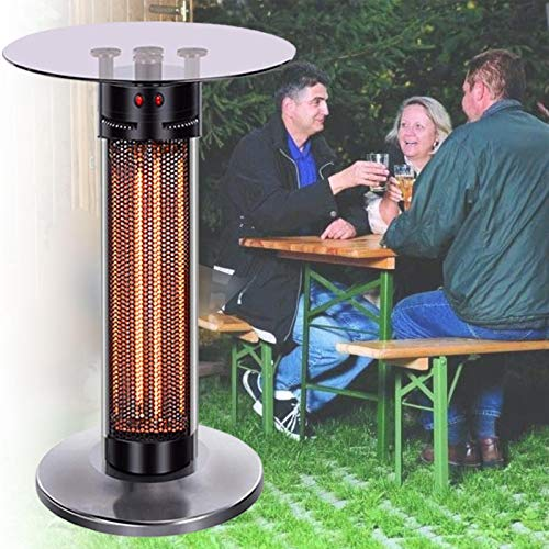 LXNQG 360° Electric Table Top Patio Heater, Robust and Durable Infrared Heater with Anti-dumping Device, Indoor Outdoor Heating Tower Heater(US, UK, EU Plug) (Size : 65cm/25in)