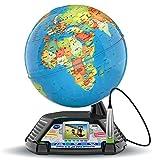 VTech - Genius XL – Globe Vidéo interactif avec écran vidéo électronique éducatif – Version FR