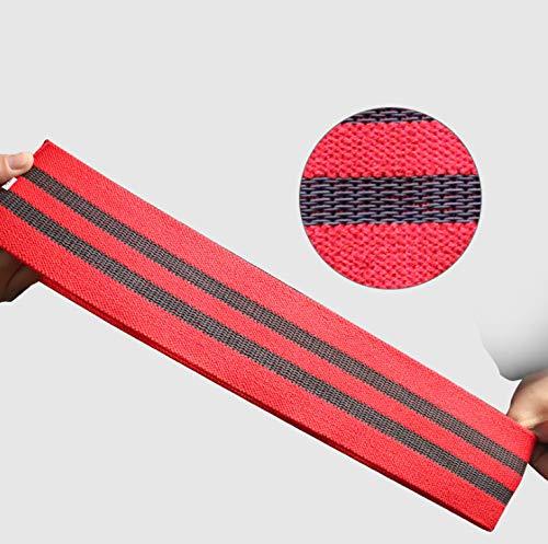 Weerstandsbanden, Weerstandsbanden Voor Benen En Billen, Inclusief Fitnessband Oefenhandboek, Anti-Slip Enkellaarzen Voor Dames En Heren, Rugstretcher 85 Cm Rood
