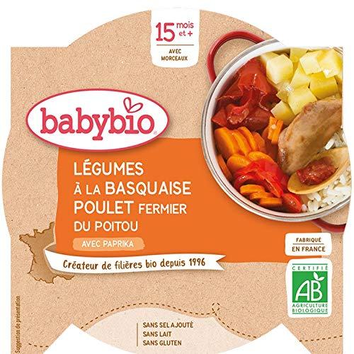 Babybio Assiette Légumes à la Basquaise/Poulet Fermier du Poitou 15+ Mois 260 g