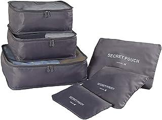 مجموعة تنظيم حقائب سفر من 6 قطع مقاومة للماء والغبار وقابلة للطي