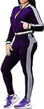 Women's 2 Piece Sweatsuit Outfits Long Sleeve Zipper Jacket Long Pants Winter Tracksuit Set