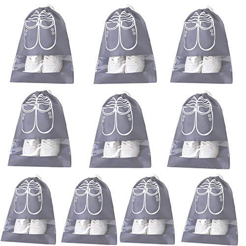 Bolsas de Almacenamiento de Zapatos con Cordón No Tejido Portátil Bolsa de Zapatos Impermeable Accesorios Viaje Deportivos Prueba de Polvo Bolsas Zapatos Ahorrar Espacio Para Vida Diaria 10 Piezas