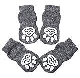 Akopawon - 4 Piezas Calcetines Antideslizantes para Perros y Gatos - Protectores para Patas para Uso en Interior y Control de Tracción con Refuerzo de Goma, Talla S a 3XL para Animales de 1 a 22,5 kg