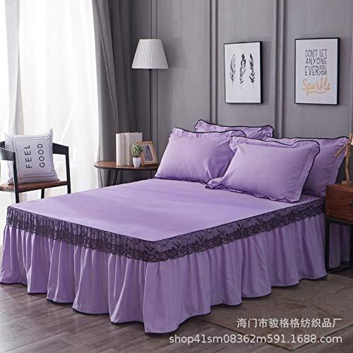 Se utiliza para la versión Coreana Vestido de cama de Encaje Juego de cama Individual Cubierta de cama Doble, Falda de cama antideslizante cama de 1,2 m: 120x200cm