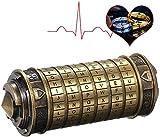 TIMSOPHIA Da Vinci Code Mini Cryptex Schlösser Toys Schmuck Alphabet Sperren Valentinstag Geburtstag Hochzeitsgeschenk Exquisite Verpackung (Grün)