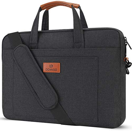DOMISO 14 inch Laptop Sleeve Shoulder Bag Water-Resistant Protective Messenger Bag Business Briefcase Handbag for 14' Notebook/Lenovo ThinkPad E480 Yoga 920/13.5' Microsoft Surface Book