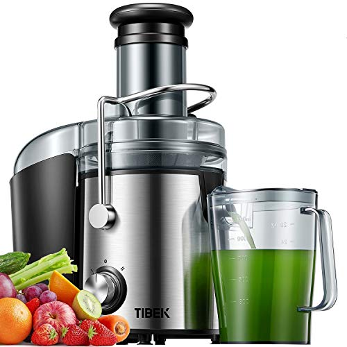 Licuadoras para Verduras y Frutas, 800W Licuadoras para Zumos Centrífugo Boca Ancha de 75mm y Multi-Velocidades con Base Antideslizante, Libre de BPA y Diseño Antigoteo, Recibir dentro de 5 Días