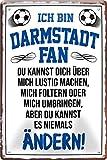 Blechschilder ICH BIN Darmstadt Fan Metallschild für