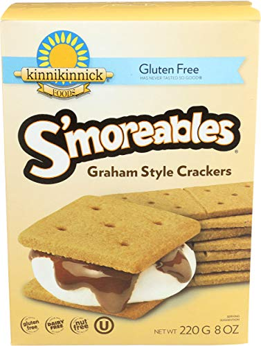 Kinnikinnick, Graham Crackers Smoreable Gluten Free, 8 Ounce