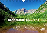 Glanzlichter der USA (Wandkalender 2022 DIN A4 quer): Faszinierende Landschaften im Suedwesten der USA. (Monatskalender, 14 Seiten )