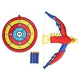 Kids Bow and Arrow Toy,Juego de Juguetes para niños con Arco y Flecha Juego de Tiro con Arco para niños Incluido 4 Balas Suaves de plástico EVA con puntaje de Juguetes