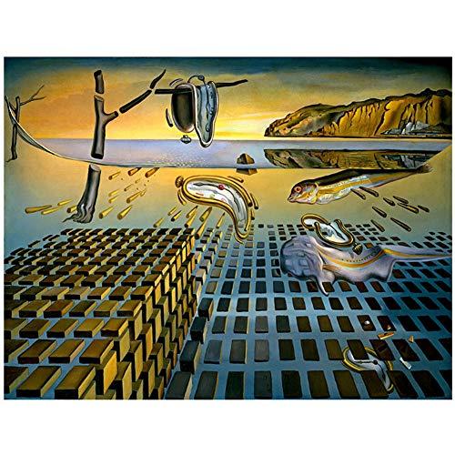 Salvador Dali Desintegración Persistencia Memoria cartel decoración del hogar pintura etiqueta de la pared-60x80cm Sin marco