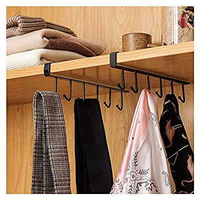 Kitchen Storage Rack Cupboard 6 Hooks Under-Cab...