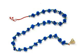 Aditri Creation Pom Pom String Set of 2 (Triqvies Blue)