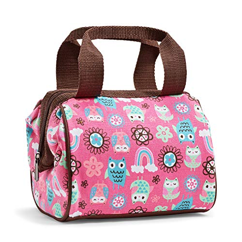 Fit + Fresh Riley Insulated Lunch Bag, Durable Lunch Bag for Kids with Leak Proof Lining, Rainbow Owl