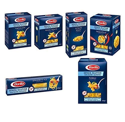 TESTPAKET Barilla senza Glutine Glutenfrei pasta nudeln 1 x 300g und 5 x 400G