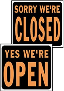 HY-KO Products SP-113 Open/Closed Reversible Jumbo Plastic Sign, 15