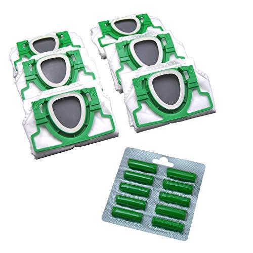 6 Vlies Staubsauger Beutel und Duft geeignet für Vorwerk VK 200 VK200 FP 200 FP200