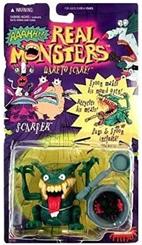 en promociones de estadios Nickelodeon's AAAHH AAAHH AAAHH  Real Monsters Scarfer by Mattel  costo real