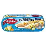 SAUPIQUET - Filets Maquereaux Vin Blanc Et Aromates 176G - Lot De 4 - Vendu Par Lot - Livraison Gratuite En France